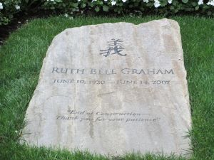 Gravestone of Ruth Graham